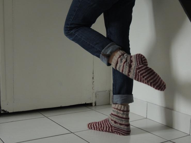 chaussette côté