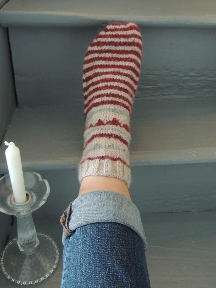 chaussettes pied escalier
