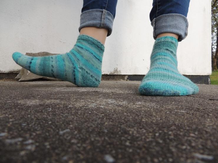 chaussettes rayées mi courte (1)