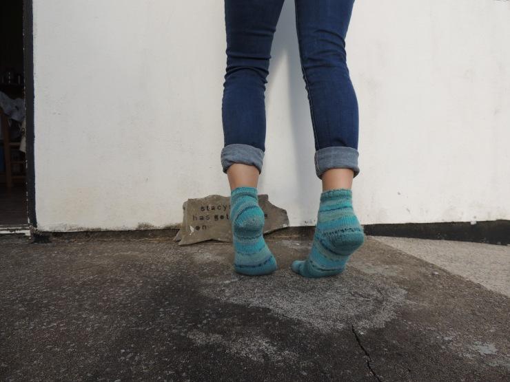 chaussettes rayées mi courte (3)