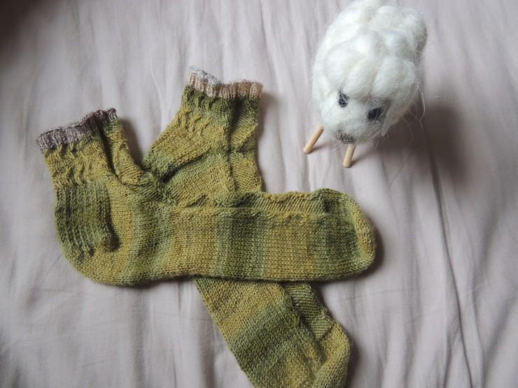 chaussettes hermès letipanda irish socks irlandaise torsades mouton mailles glissées (2)