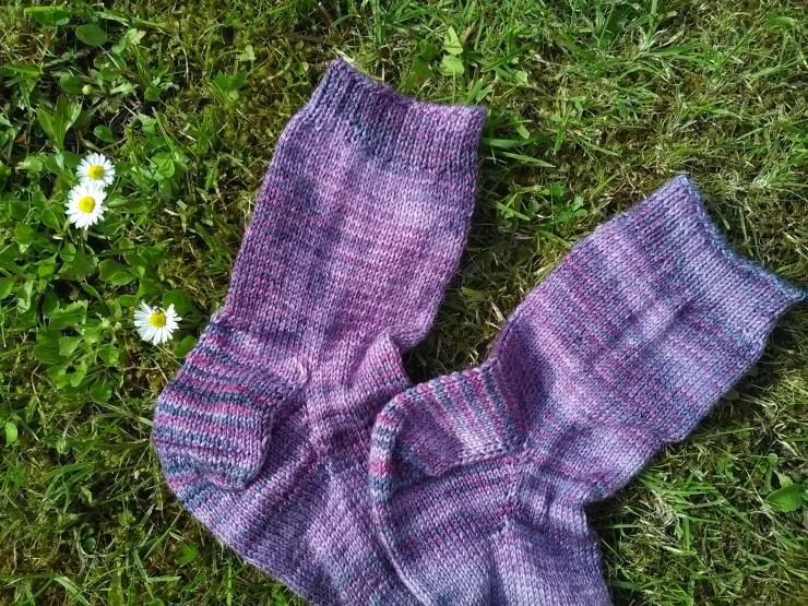chaussettes toe up tricotées main laine wool finch studio laine irlandaise hand knits socks (2)