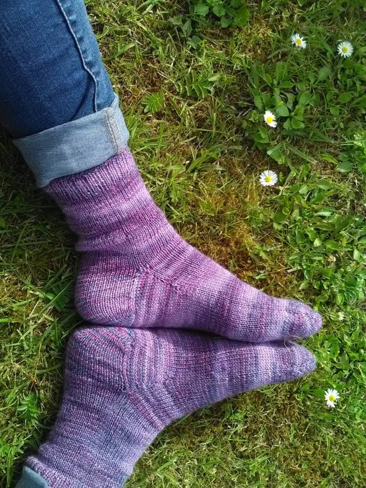 chaussettes toe up tricotées main laine wool finch studio laine irlandaise hand knits socks (3)