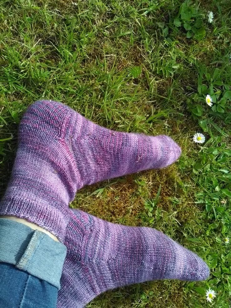 chaussettes toe up tricotées main laine wool finch studio laine irlandaise hand knits socks (6)