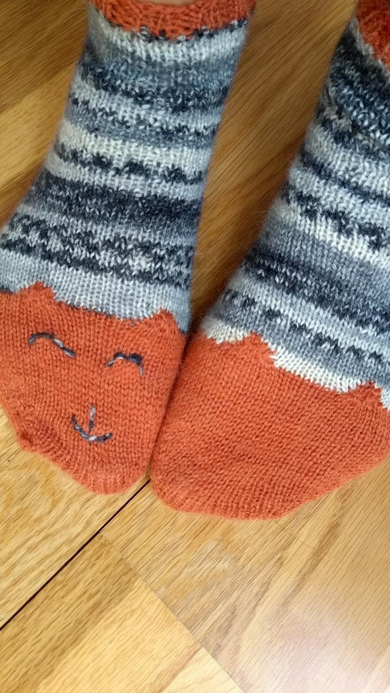 chaussettes courtes de la renarde tête de renard drops fabel talon rangs raccourcis (4)