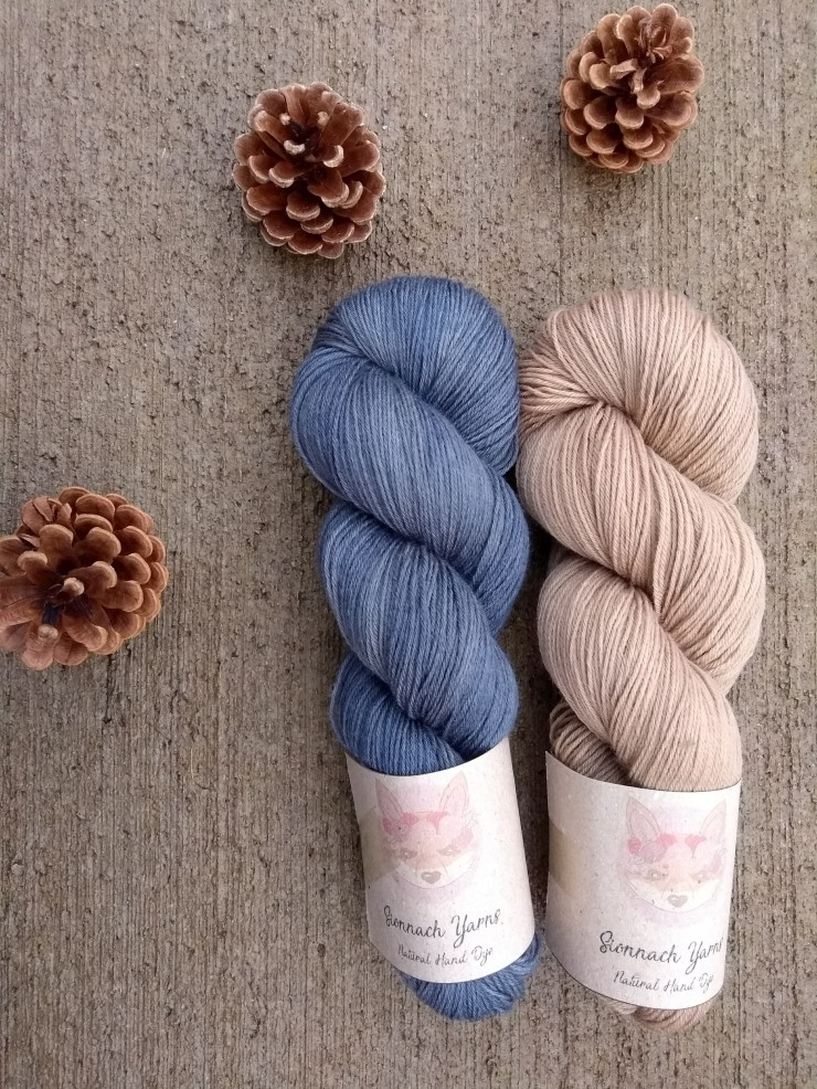 duo fingering combo couleur laine teinte main naturelle plante hand dye yarn natural plants logwood walnut bois de campêche noix