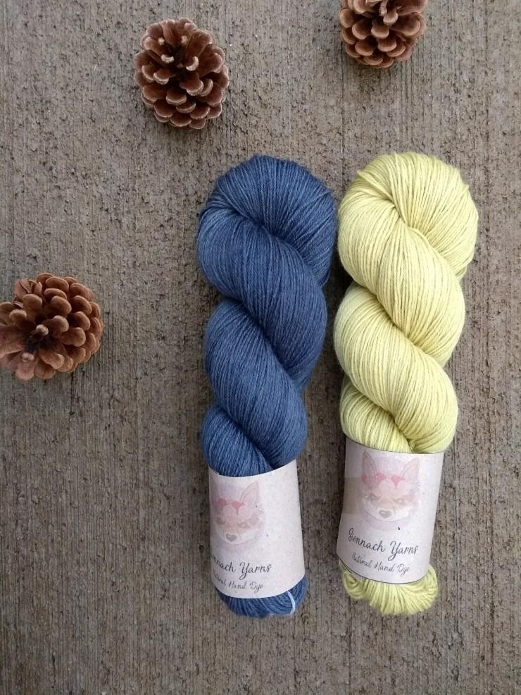 duo fingering combo couleur laine teinte main naturelle plante hand dye yarn natural plants logwood yarrow bois de campêche achilléé