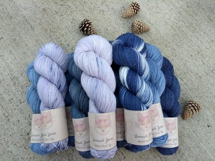 laine teinte main plante naturelle hand dye yarn natural fingering sock chaussettes logwood bois de campêche (1)