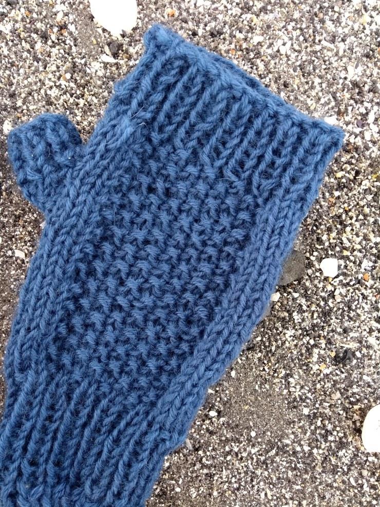 mitaine petites mains point de riz facile tuto patron jersey sostren grene laine (2)