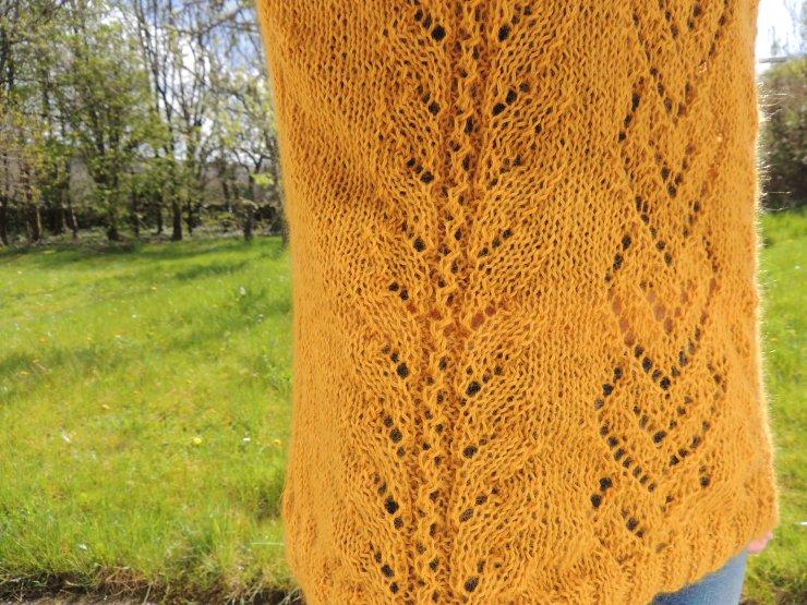 the pearl drops design patron tricot gratuit français tricot irlandais point ajouré laine orange inconnue swap détails (1)