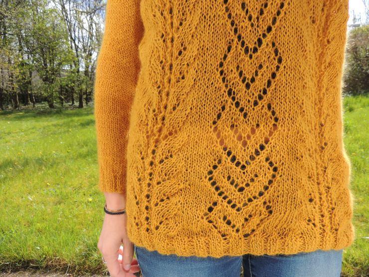 the pearl drops design patron tricot gratuit français tricot irlandais point ajouré laine orange inconnue swap détails (2)