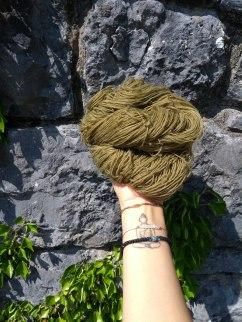 teinture laine fingering ortie naturelle végétale laine teinte main irlandenettle dyeing expérience (2) ajout fer soupe aux clous