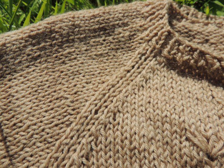 lady mademoiselle dandelion along avec anna gilet cardigan patron francais sionnach yarn laine teinte main irlande teinture vegetale naturelle bois de campeche point pissenlit naturelle